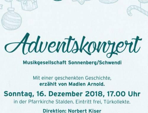 Adventskonzert in der Pfarrkirche Stalden am 16. Dezember